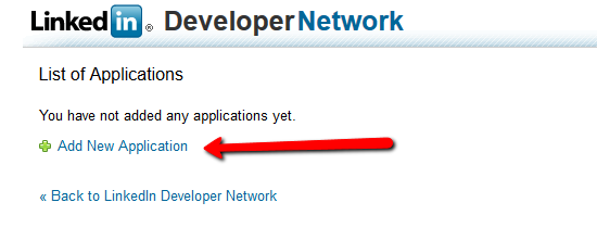 Create Application Linkedin