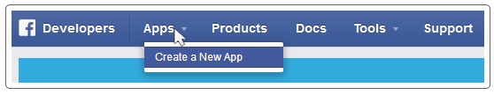 Creating a new App on Facebook Developers Platform