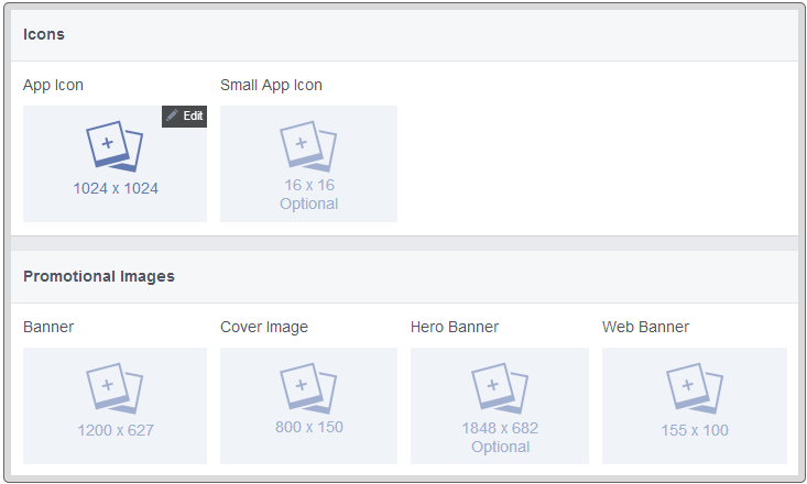 Uploading App Images in Facebook