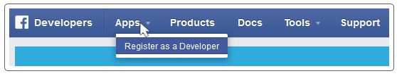 Register as a Developer on Facebook