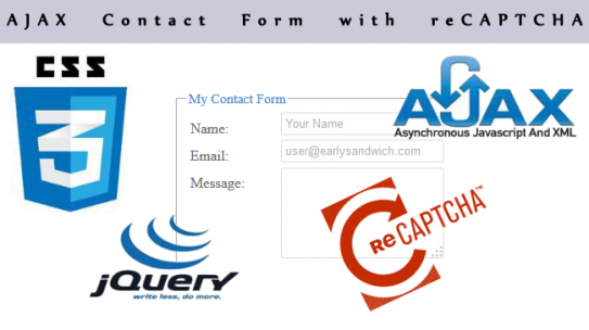 AJAX Contact Form using jQuery with reCAPTCHA