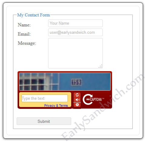 jQuery AJAX Contact Form with Recaptcha And HTML5 Validation