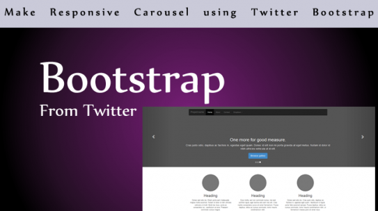 Make Responsive Carousel using Twitter Bootstrap