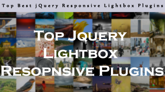 Top Best jQuery Responsive Lightbox Plugins
