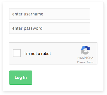 Login box with new reCaptcha API